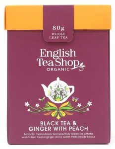 Herbata English Tea Shop Black Tea & Ginger with Peach – herbata sypana 80g