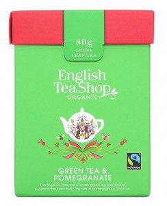 Herbata English Tea Shop Green Tea Pomegranate – herbata sypana 80g