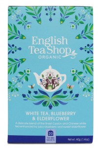 Herbata English Tea Shop  White Tea Blueberry & Elderflower 40g – 20 saszetek