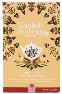 Herbata English Tea Shop  White Tea Lychee Cocoa 40g  – 20 saszetek